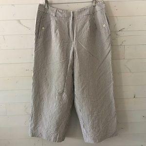Talbots Woman Striped Capri Cropped Pants